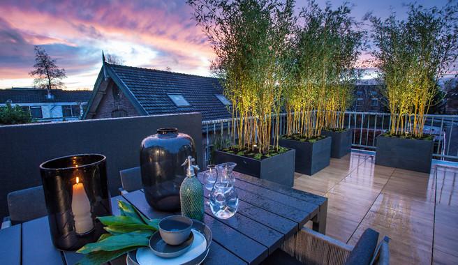Buitenverlichting dakterras en balkon | Exclusieve Dakterrassen