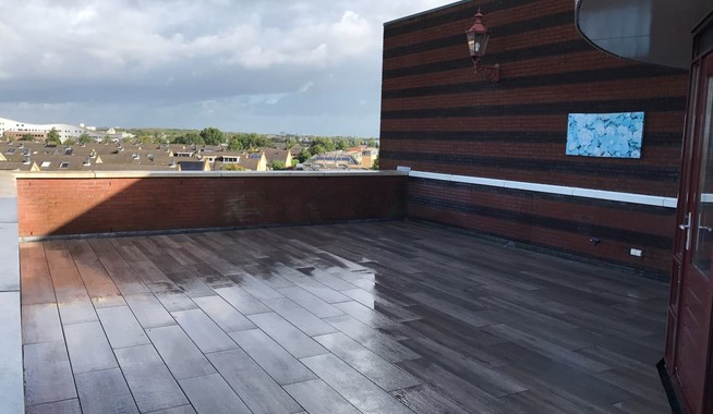 Dakterras penthouse houten